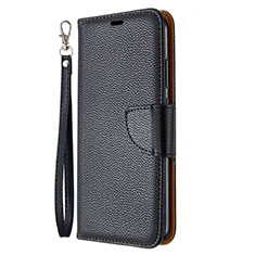 Leather Case Stands Flip Cover L01 Holder for Huawei P40 Lite E Black