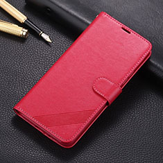 Leather Case Stands Flip Cover L01 Holder for Huawei P40 Lite Red