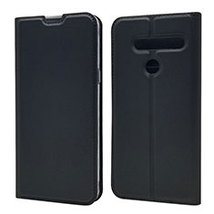 Leather Case Stands Flip Cover L01 Holder for LG G8 ThinQ Black