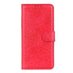 Leather Case Stands Flip Cover L01 Holder for LG K51 Red