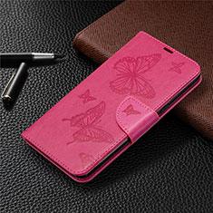 Leather Case Stands Flip Cover L01 Holder for LG K61 Hot Pink