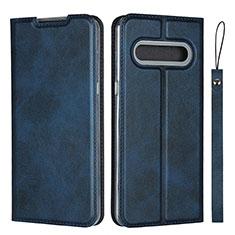 Leather Case Stands Flip Cover L01 Holder for LG V60 ThinQ 5G Blue