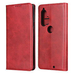 Leather Case Stands Flip Cover L01 Holder for Motorola Moto Edge Plus Red