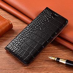 Leather Case Stands Flip Cover L01 Holder for Motorola Moto G9 Black