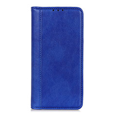 Leather Case Stands Flip Cover L01 Holder for Motorola Moto G9 Plus Blue