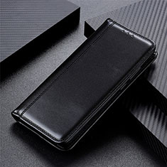Leather Case Stands Flip Cover L01 Holder for Motorola Moto One Fusion Black