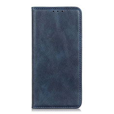 Leather Case Stands Flip Cover L01 Holder for Motorola Moto One Fusion Plus Blue