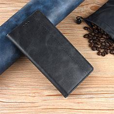 Leather Case Stands Flip Cover L01 Holder for Motorola Moto One Zoom Black