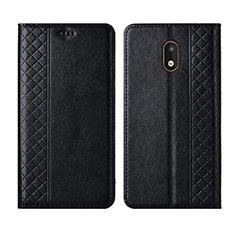Leather Case Stands Flip Cover L01 Holder for Nokia 1.3 Black
