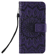Leather Case Stands Flip Cover L01 Holder for Nokia 2.3 Purple