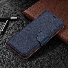 Leather Case Stands Flip Cover L01 Holder for Nokia 3.4 Blue