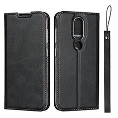 Leather Case Stands Flip Cover L01 Holder for Nokia 4.2 Black