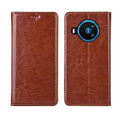 Leather Case Stands Flip Cover L01 Holder for Nokia 8.3 5G Orange