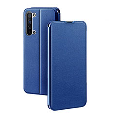Leather Case Stands Flip Cover L01 Holder for Oppo Find X2 Lite Blue