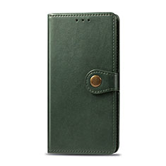 Leather Case Stands Flip Cover L01 Holder for Realme 5i Green