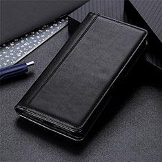 Leather Case Stands Flip Cover L01 Holder for Realme 6 Pro Black
