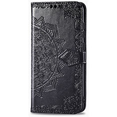 Leather Case Stands Flip Cover L01 Holder for Realme 6i Black