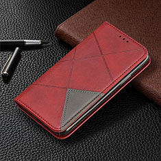 Leather Case Stands Flip Cover L01 Holder for Samsung Galaxy A31 Red