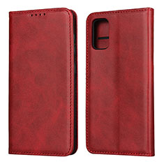 Leather Case Stands Flip Cover L01 Holder for Samsung Galaxy A41 Red