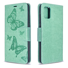 Leather Case Stands Flip Cover L01 Holder for Samsung Galaxy A51 5G Green