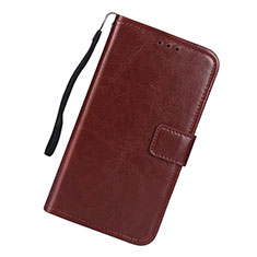 Leather Case Stands Flip Cover L01 Holder for Samsung Galaxy S10 Lite Brown
