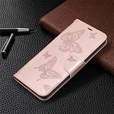 Leather Case Stands Flip Cover L01 Holder for Samsung Galaxy S20 FE 5G Rose Gold