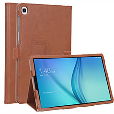 Leather Case Stands Flip Cover L01 Holder for Samsung Galaxy Tab S5e 4G 10.5 SM-T725 Brown