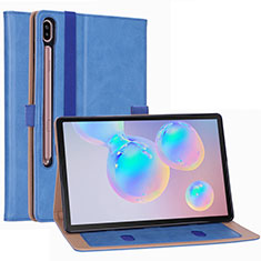 Leather Case Stands Flip Cover L01 Holder for Samsung Galaxy Tab S6 10.5 SM-T860 Sky Blue
