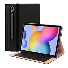 Leather Case Stands Flip Cover L01 Holder for Samsung Galaxy Tab S7 4G 11 SM-T875 Black