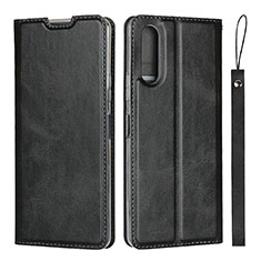 Leather Case Stands Flip Cover L01 Holder for Sony Xperia 10 II Black