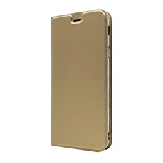 Leather Case Stands Flip Cover L01 Holder for Sony Xperia 10 Plus Gold