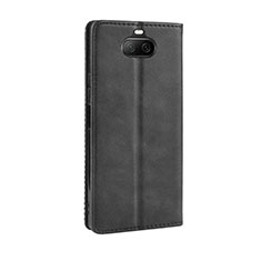 Leather Case Stands Flip Cover L01 Holder for Sony Xperia 8 Black