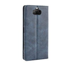 Leather Case Stands Flip Cover L01 Holder for Sony Xperia 8 Lite Blue