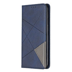 Leather Case Stands Flip Cover L01 Holder for Sony Xperia L4 Blue