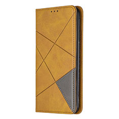 Leather Case Stands Flip Cover L01 Holder for Sony Xperia L4 Yellow