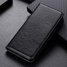 Leather Case Stands Flip Cover L01 Holder for Vivo Y20s Black