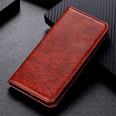 Leather Case Stands Flip Cover L01 Holder for Vivo Y20s Brown
