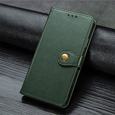 Leather Case Stands Flip Cover L01 Holder for Xiaomi Mi Note 10 Lite Green