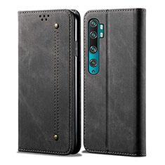 Leather Case Stands Flip Cover L01 Holder for Xiaomi Mi Note 10 Pro Black