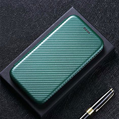 Leather Case Stands Flip Cover L01 Holder for Xiaomi Poco M3 Green