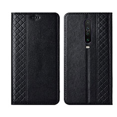 Leather Case Stands Flip Cover L01 Holder for Xiaomi Redmi K30 5G Black
