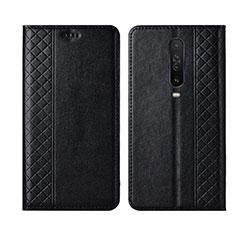 Leather Case Stands Flip Cover L01 Holder for Xiaomi Redmi K30 5G Black