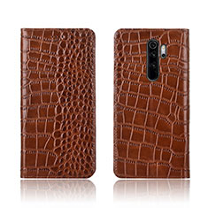 Leather Case Stands Flip Cover L01 Holder for Xiaomi Redmi Note 8 Pro Orange