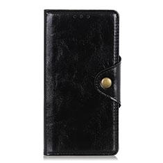 Leather Case Stands Flip Cover L01 Holder for Xiaomi Redmi Note 9 Pro Black