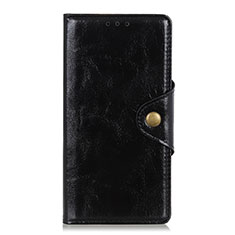 Leather Case Stands Flip Cover L01 Holder for Xiaomi Redmi Note 9S Black