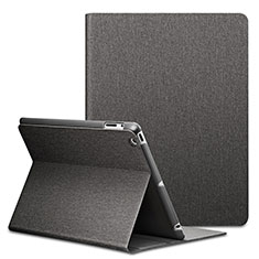 Leather Case Stands Flip Cover L02 for Apple iPad 2 Black