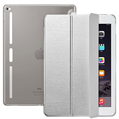 Leather Case Stands Flip Cover L02 for Apple iPad Pro 12.9 Silver