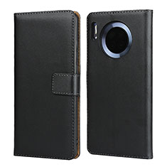 Leather Case Stands Flip Cover L02 for Huawei Mate 30 Black