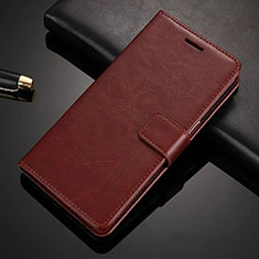 Leather Case Stands Flip Cover L02 for Nokia 6.1 Plus Brown