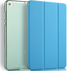 Leather Case Stands Flip Cover L02 for Xiaomi Mi Pad 3 Blue